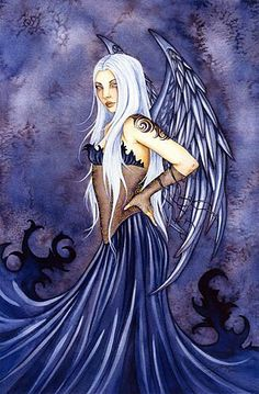 Amy Brown Blue Angel Print -- Limited Edition