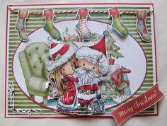 Helen's Crafty Shed: Winnie Winterland - Winnie and Santa