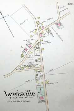 Lewisville, PA., a community on the Mason Dixon Line.  Farm Maps of Chester County, PA, W. H. Kirk & Co, 1883 Source: Local History Room, Oxford PA Library Mason Dixon Line, Chester County, Local History, Maps, Oxford, Community, Room, Bedroom, Blue Prints