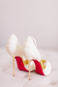 Gold heeled pumps...yes please! #louboutin | Adelaide Hills Wedding from Nicole Cordeiro Photography  Read more - http://www.stylemepretty.com/australia-weddings/2013/10/23/adelaide-hills-wedding-from-nicole-cordeiro-photography/