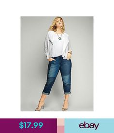Jeans Lane Bryant Women's Patchwork Denim Capri Jeans Size 26 #ebay #Fashion
