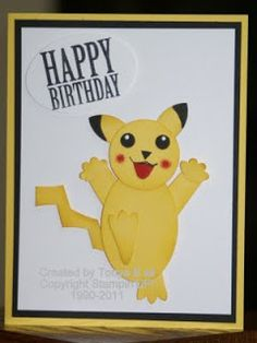 Stampin With Tonya Pokemon Birthday More Cards