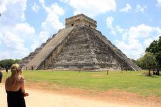 The Kukulkan #Pyramid (The Castle) in Chichen Itza #Yucatan #Maya #civilization #Mexico #travel #architecture