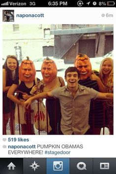 Corey & The Pumpkin Obamas - bahaha what the heck. This brings fansies to a whole new level. ;D