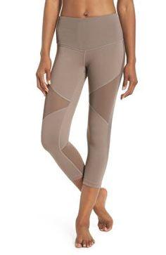 aae35214a6cb1b ZELLA Designer Moon Dust High Waist Crop Leggings Active Wear For Women,  Moon Dust,