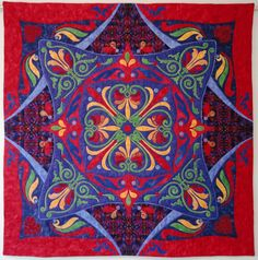 Blessings of Friendship    Love the name and the colors, great design. applique quilt