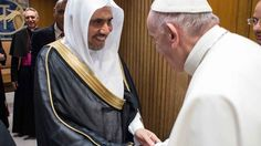Pope Francis welcomes to the Vatican the head of a Muslim group tied to the financing of jihad terror.