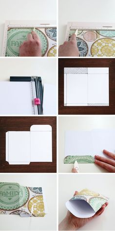 Diy Scrapbook Paper Pocket Envelopes.