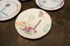 The Cute Hunter Rematched Set of 4 Dessert Plates  *FREE SHIPPING* (Desert Set A)