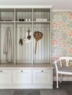 Entry with storage Decor, Interior, Interior Inspiration, Home Decor, Laundry Room Storage, Interior Design Kitchen Small, House Interior, Room Storage Diy, Furnishings