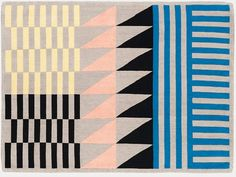 Sylvain Willenz FOLK Rug // 32 statement-making geometric rugs — and where to find (and buy) them right now. Textiles, Textile Patterns, Textile Design, Print Patterns, Quilt Design, Interior Wallpaper, Wallpaper Magazine, Geometric Rug, Branding