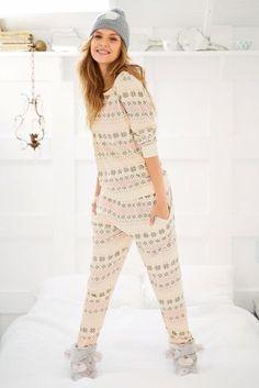Buy Oatmeal Fairisle Pattern Pyjamas from the Next UK online shop