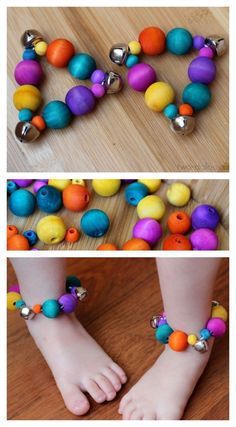 Make these colorful ankle bracelets with a few materials and get your little ones rompin' and stompin' to the beat of the music!