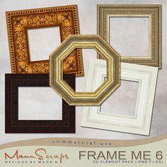 CU Frame Me 6 | CU/Commercial Use #digital #scrapbook design tools at CUDigitals.com #digitalscrapbooking
