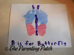 B Is for Butterfly Footprint Craft | Parenting Patch