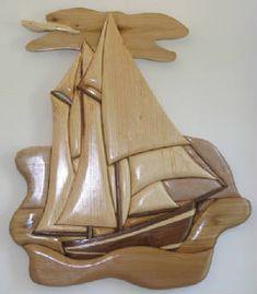 intarsia boat - Google Search