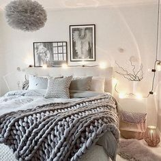 A cozy bedroom setting via @mz.interior  Tove Frank poster Shells  Feathers available online and we currently have FREE SHIPPING and 20% off all Tove Frank Posters with code 'TOVEFRANK' | http://ift.tt/1NPADcz