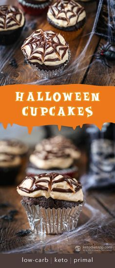 Halloween Cupcakes (low-carb, keto, primal)