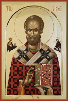 St Nicholas of Myra Byzantine Art, Byzantine Icons, Religious Icons, Religious Art, Church Icon, Roman Church, Religious Paintings, Russian Icons, Russian Orthodox