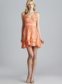 What a lovely beach-wedding dress for maids or guests. $65 (reg$385)