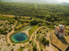Source of the Cetina river in Croatia, more than 150 meters deep