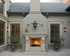 casement windows  - colors.....and of course an outside fireplace