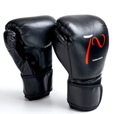 f8adc5f20 New PU Fight MMA Boxing Gloves Sandbag Taekwondo Muay Thai Fight Boxe De  Luva Adult Training Punching Sparring Glove Red   Black