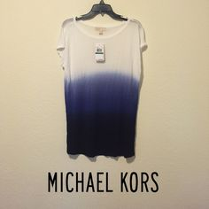 Michael Kors Ombré Top Gorgeous blue and white Michael Kors ombré top! Has silver Michael Kors emblem on back neckline, opposite of the tag. NWT MICHAEL Michael Kors Tops