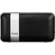 Tumi Wireless Portable Speaker with Powerbank Speaker ($200) ❤ liked on Polyvore featuring bags, black, business accessories, electronics, clear bags, portable bag, crystal clear bags, tumi bags and tumi