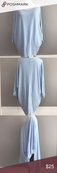 Light blue free loader top long sleeve new S Long sleeve scoopneck top Comes new in package w tags. Exactly as pictured freeloader Tops Tunics