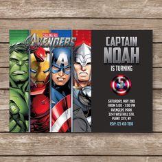 Superhero Invitation, Super hero Invite, Avengers Birthday Invitation, Captain America Iron Man Party, Hulk, The Avengers Thank You Card by PartyGiraffe on Etsy https://www.etsy.com/au/listing/276602260/superhero-invitation-super-hero-invite