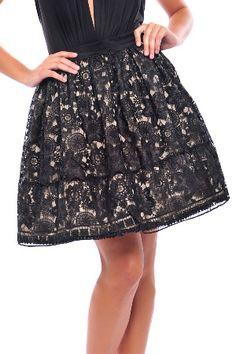 sweet lacy short skirt in black