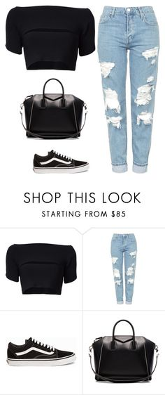 """Untitled #505"" by itgirlcarlota ❤ liked on Polyvore featuring T By Alexander Wang, Topshop, Vans and Givenchy"