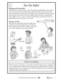 Printables Properties Of Light Worksheet activities worksheets and lights on pinterest see the light greatschools