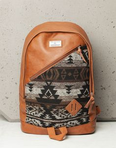 Ethnic jacquard backpack. Discover this and many more items in Bershka with new products every week
