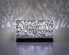 """Horizontal Curls Luminaire"" Ceramic Table Lamp Created by Muhammad Moussa"