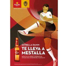 Estrella Damm Valencia C.F. Campaña de promoción de la cerveza Estrella Damm. Diseño de VASAVA
