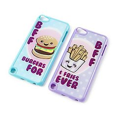 Best Friends Burgers and Fries Forever Covers for iPod Touch 5 Set of 2