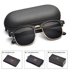 743272c276d27 Men Clubmaster Polarized Sunglasses UV 400 Protection LUENX with Case –  Sunglasses Manufacturer Wholesale