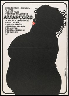 Jakub Erol's poster for Federico Fellini's Amarcord (1973).