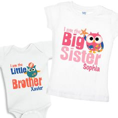 I am the Big Sister & I am the Little Brother by shirtsbynany, $29.98