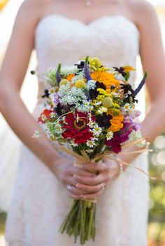 Wood and Wildflowers :: Liz+Steve Love everything on this website. Best classy wildflower wedding.