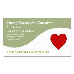 Caregiver Business Cards
