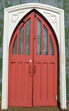 Church Chapel Gothic Arched Double Door