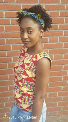 #CasualTop #CasualTopAfricanPrint #PhyllisNtimDesigns #AfricanFashion