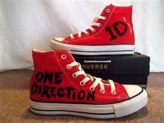 Create Your Own One Direction Converse All by CustomConverseUK Tolson lyons Im going to by white high tops just so i can do this! im pretty good at painting shoes . buy some and ill do it on yours too. One Direction Accessories, One Direction Shoes, One Direction Merch, Hi Top Converse, Converse Shoes, Converse Trainers, Shoes Sneakers, Liam Payne, Louis Tomlinson