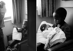 Hospital adoption photos. This brings tears to my eyes. A family with adopted children brings big brother to see his new sibling. So, so sweet.