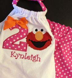 Elmo Birthday Outfit first second third Birthday by amotherlytouch, $29.99