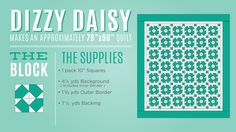 Diagram for the fun Dizzy Daisy Block!