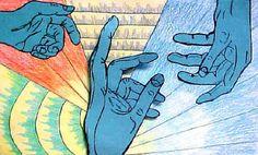 Middle School Art Lessons | Art Lesson Plan: Expressive Contour Hands Drawing
